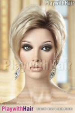 hmdylSuperb Pixie Wig Choppy Lace Front Wig Blonde & Dark Roots