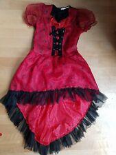 Mädchen Kostüm Hexe rot & schwarz ca. Gr. 152
