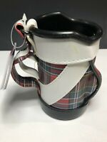 """PENCIL HOLDER - SHAPED LIKE A GOLF BAG BEAUTIFUL 5"""" Tall - Pre-owned"""