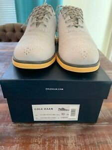 Pre-owned Cole Haan Mens Original grand Grey Wing Tips Size 10