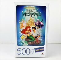 Disney The Little Mermaid 500 Piece Movie Poster Puzzle Blockbuster VHS Case
