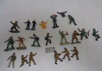1970s Vintage  Britains Deetail Toy Soldiers WW2 Plastic - Incomplete