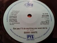 """BARRY WHITE * FOR YOU I'LL DO ANYTHING YOU WANT ME TO * 7"""" SINGLE EXCELLENT 1975"""