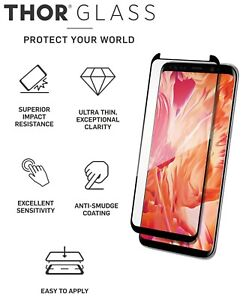 THOR Glass Samsung Galaxy S9 Premium Screen Protector Case Fit Design Ultra Thin