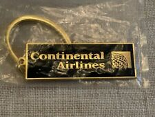 Continental Airlines Black and Gold Key Chain / Original Packaging / Bold Look