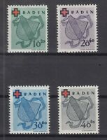 Q4012/ GERMANY FRENCH ZONE – BADEN – MI # 42A / 45A COMPLETE MINT MNH