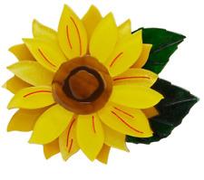 ERSTWILDER BROOCH - FOLLOW THE SUN - SUNFLOWER - FLOWER. NEW IN BOX.
