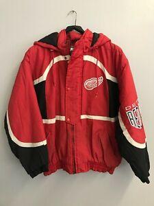 vintage Logo Athletic Detroit Red Wings Full-Zip Jacket Size L