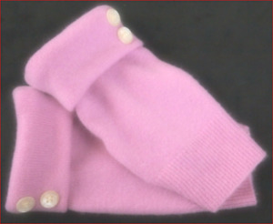 """FINGERLESS GLOVES LAVENDER PINK 100% CASHMERE ONE SIZES M L 7.5""""L TEXTING WOMEN"""