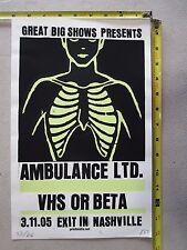 2005 Rock Roll Concert Poster Ambulance LTD Print Mafia S/N LE 66