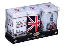 New English Teas - Best of British 3 Mini Tins Gift Pack - Loose Tea 70g
