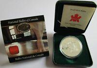Kanada 1 Dollar 2001 50 Jahre Nationalballett Silber PP
