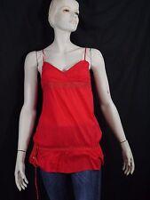PROMOD Taille 36 Superbe haut long débardeur tunique rouge coton tunic