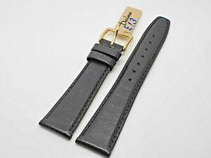 20mm DARLENA WATCH STRAP ANTI ALLERGY LEATHER BLACK  CHROME BUCKLE 1217201 Y