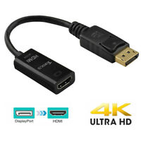 4K Display Port DP Male to HDMI Female Adapter Cable Converter for PC HP/DELL