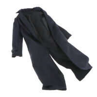Trench Coat Soldato Maschile In Scala 1: 6 Cappotto Antivento Nero Per Action