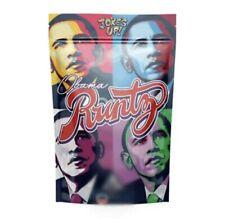 New 2020 Jokes Up 3.5g Mylar Obama Runtz (25 Pack) Smell Proof Empty Mylar Bags
