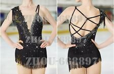 Competition Skating Wear Quick Dry Anatomic Design Classic Black tassel lace