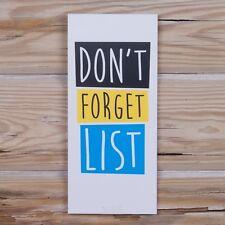 Non dimenticare Lista magnetica shopping nota LIBRO veramente buono Regalo Divertente Nuovi