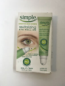 Simple Revitalizing Eye Roll On 0.5 Oz. New