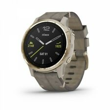Garmin fenix 6s Sapphire Light Gold-tone + Shale Gray Leather Band 010-02159-39