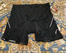 Trayl Men's L Bicycle Cycle Shorts Black Padded Reflective Back Pocket Euc