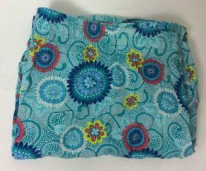 2X Cotton 100% Rayon Knit Pajama Long Pant AQUA HIPPIE FLORAL Cozy Soft New