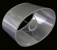 Lampenschirm Extravagant Silber Lack Oval Für  Tischlampen E27 Büro Nachttisch