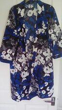 Papaya blue/black/ivory summer jacket size 14