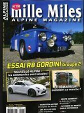 MILLE MILES N° 118 R8 Gordini GR2 nouvelle Alpine A310 V6 GR 4