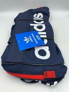 Adidas Santiago Duffel Trefoil Logo Bag Gym Navy Red Carry On Bag One Size NWT