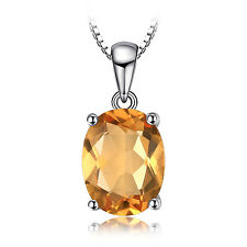 JewelryPalace 1.7ct Natural Citrine Pendant Necklace 925 Sterling Silver 18 Inch