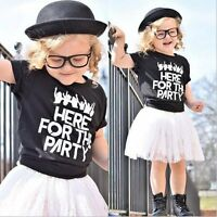 Kids Baby Girls Summer Outfit Clothes T-shirt Top+Lace Tutu Skirt Dress 2PCS Set