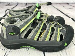 KEEN Newport Gray / Green Waterproof Sport Sandals Shoes KIDS US 10 - EU 27/28