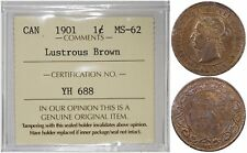 CANADA 1 CENT 1901 (ICCS MINT STATE 62 LUSTROUS BROWN) *PREMIUM QUALITY*