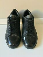 LAD MUSICIAN Black Leather Low-Top Sneaker - Size 41 EU - Made in Japan