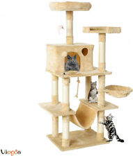 New listing Multi-Level Cat Tree Tower Condo Kitty Activity Center W/ Scratch Post & Hammock