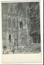 WW1 Shelling Damage to Cathedral, RP PPC, With FPO 332 1915 PMK