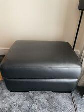 Sofology Black Leather Storage Footstool