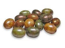 7x9mm Gemtone Luster Picasso Oval Rice Bead (15) #3884
