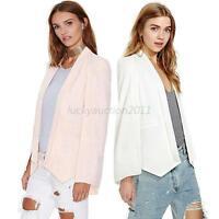 Casual Fashion Long Womens Open Split Sleeve Cape Blazer Suit Jacket Coat