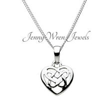 CHILDREN'S Sterling SILVER CELTIC knot HEART Necklace / Pendant