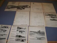 VINTAGE..CURTISS A-8 SHRIKE..LARGE 5-VIEWS/CROSS SECTIONS/DETAILS..RARE! (612G)