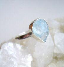 Ring mit rohem Aquamarin - 925er Silber - roh - Gr. 18,1 -