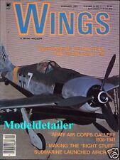 Wings Magazine Vol.14 No.1, Focke-Wulf FW 190 Submarine Japanese Torpedo Planes
