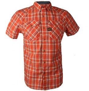 G-Star Raw S Mens Arizona Cross Terra Stone Check SS Shirt BNWT Brand New Small
