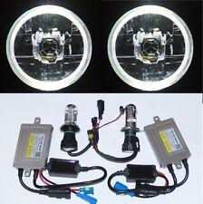 55W HID Headlight WHITE LED Halo for Toyota Landcruiser 40 60 75 78 79 series