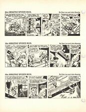 1977 AMAZING SPIDERMAN KRAVEN JOHN ROMITA SR. PROOF PAGE PRODUCTION ART STAN LEE