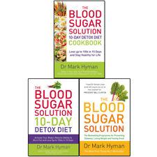 Mark Hyman Blood Sugar Solution Collection 3 Books Set 10-day Detox Dietcookbook
