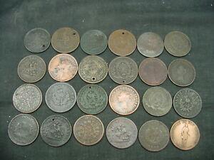 lot of 24 canadian half pennies tokens